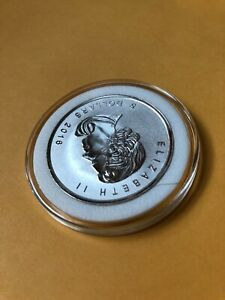 2016 Canada Maple Leaf 1oz Silver $5 Coin w/ Bigfoot Privy - Stored in AirTites