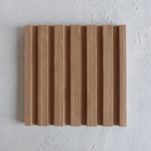 20mm Width Easyfit Bamboo Profiled Panel (SAMPLE - 200 x 200 mm)
