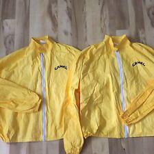 2 Vintage Joe Camel Cigarettes All over print Tyvek Promo jacket lot Extra Large