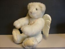 """Vintage Vermont 14"""" Teddy Bear Angel with Wings Fully Jointed 1995"""