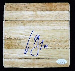 Aaron Gray Chicago Bulls Signed 6x6 Floorboard JSA Authenticated