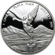 2020 1 Oz Prata Mexicana Libertad Proof Coin .999 Prata Fina Em Cápsula #A361