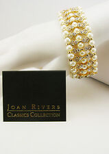 Joan Rivers Faux Pearl & Crystal Stretch Bracelet (comes with Joan Rivers card)