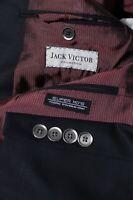 Jack Victor Men's Black Super 110s Sport Coat Jacket Blazer Size 46R
