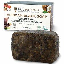 Savon Noir Africain 200g, Cosmétique Végétalienne Fabriqué À La Main Au Ghana,