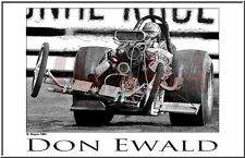 "Drag Racing Art Print of Don Ewald. 13"" x 19"""