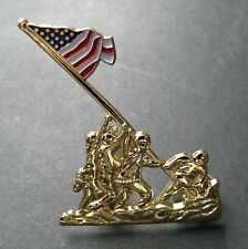 IWO JIMA MEMORIAL US MARINE CORPS USMC MARINES LAPEL PIN BADGE 2 INCHES
