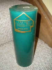 """NEW 9"""" pillar candle from The Old Candle Barn in Intercourse, PA Green Pine Scen"""