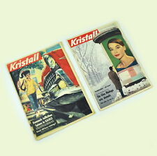 2 x Kristall Zeitschrift: Nr. 19 1957 & Nr. 4 1959