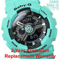 Genuine Casio Baby-g Ba-111-3a Sporty Analog Digital Ladies Watch