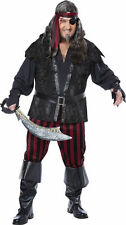 Ruthless Rogue Pirate Costume Plus Size Men (48-52) New by Cal. Costumes 01739