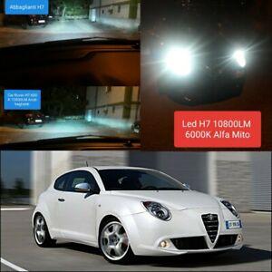Kit Led ZES H7 6000k 12000LM Abbaglianti Alfa Romeo Mito 12V No Error White