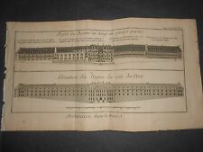 1790 ENGRAVING DIDEROT LAMARCK ARCHITECTURE BAGNE DE BREST SUPPL. SUITE PL. 2
