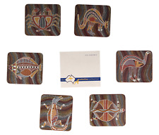 A set of 6 boxed Australian coasters Aboriginal art Animal designs B