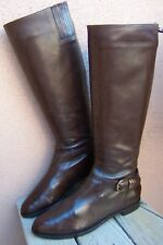 VIA SPIGA Womens Knee High Fashion Boot Dark Brown Leather Riding Boots Size 7M