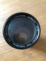 Hanimex 80-200mm MC 1:4.5 Zoom lens PK Bayonet Mount