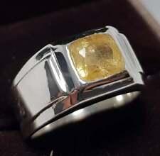 Yellow Sapphire Rings Men Sapphire Ring Pukhraj stone Rings Shia rings