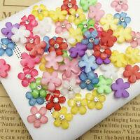 20/100X 10mm de résine DIY fleurs plat scrapbooking pour artisanat de mariage