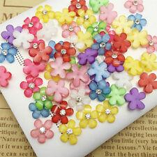 20/100X 10mm DIY Resin Flowers Flatback Scrapbooking for Phone/Wedding Crafts TY