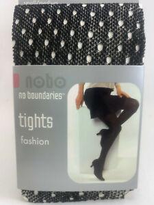 2 pr No Boundaries Fashion Textured Tights - Size S/M - 3 patterns