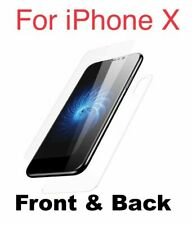 Front and Back 9H Tempered Glass Screen Protector Film For Apple iPhone X XS