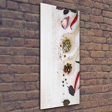 Wand-Bild Kunstdruck aus Acryl-Glas Hochformat 50x125 Gemüse und Gewürze