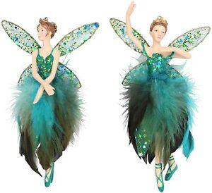 Gisela Graham Single Christmas Fairy Ballerina Resin Tree Peacock Decoration