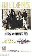 The Killers Concert Handbill Mini-Poster Shoreline Amp 2009
