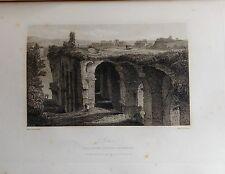 ITALIA. ROME, ROMA, PALATINO. GRABADO ORIGINAL DE HAKEWILL, 1820