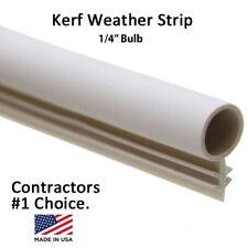 """1/4"""" Window Kerf Slot Sash Weatherstrip Seal Bulb Bubble [White,Tan,Brown,Black]"""