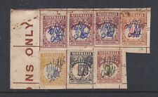 Australian Tax Instalment Fragment With 7 Stamps