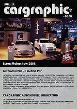Prospekt Cargraphic Essen Motor Show 2008 Tuning-Katalog Porsche Ferrari Aston M
