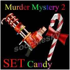 Roblox MM2 Candy SET Candy + Sugar Murder Mystery 2 Gun Messer Waffe Knife Item