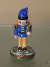 Eximious Limoges Porcelain Nutcracker Soldier Hinged Box-France