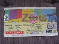U2 TICKET STUB Berlino Germany Zooropa Tour 1993 used original!