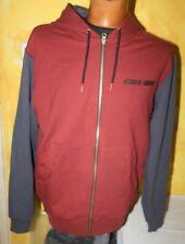 Veste Gilet zippée  à capuche Homme Original CAN-AM - BRP - Rouge & Gris - M