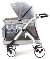Wonderfold Wagon MJ01 Multi Function Pram Stroller Chariot Mini Gray
