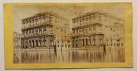 Venezia Ca' Corner Italia Foto Stereo P49p2n57 Vintage Albumina c1860