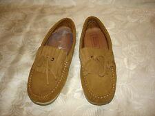 ZARA Boys Dress Boat Brown Leather Shoes Size 35