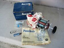 PENN 113HL SENATOR II SPECIAL 4/0 HIGH SPEED FISHING REEL W/ORIGINAL BOX & ACCES