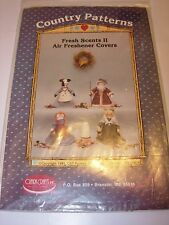 PROJECT PATTERN FABRIC SEWING FRESH SCENTS AIR FRESHENER COVERS SANTA COW CAT