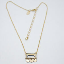 LIA SOPHIA JEWELRY GOLD PLATED PENDANT NECKLACE CUT CRYSTAL TASSEL RECTANGLE