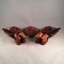 Vtg Wooden Camel Napkin Ring Holder Wooden appetizer bowls spoons