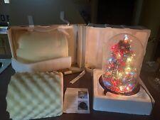 New ListingThe Danbury Mint Glass Dome Lighted God Bless America Christmas tree New W/Box