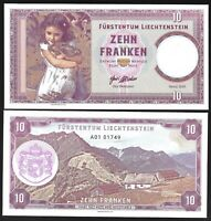 LIECHTENSTEIN 10 FRANCS (2019) PRIVATE ISSUE / NEW RELEASE / UNC NOTE