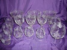 Bohemia Crystal / Glass Grape Design Czechoslovakia Mixed Lot