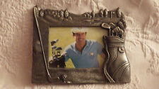 "Pewter Golf Picture Frame Golfing Sports Fgi Graphics 7""x6"" Holds 3.5x5 Photo"