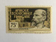 "French-Equatorial-Africa 75¢ 1940 Overprint ""Libre"" Beautiful Centering OG M, SH"