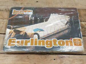 Vintage Burlington House Twin Size Flat Sheet Plaid MCM Design Sealed