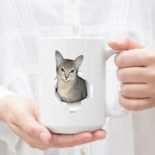 Funny Abyssinian Cat Blue Fur Color Gifts For Men Women Cat Lovers Coffee Mug